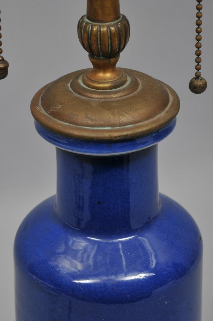 Porcelain vase. China. 19th century. Roleau form. Blue - 6