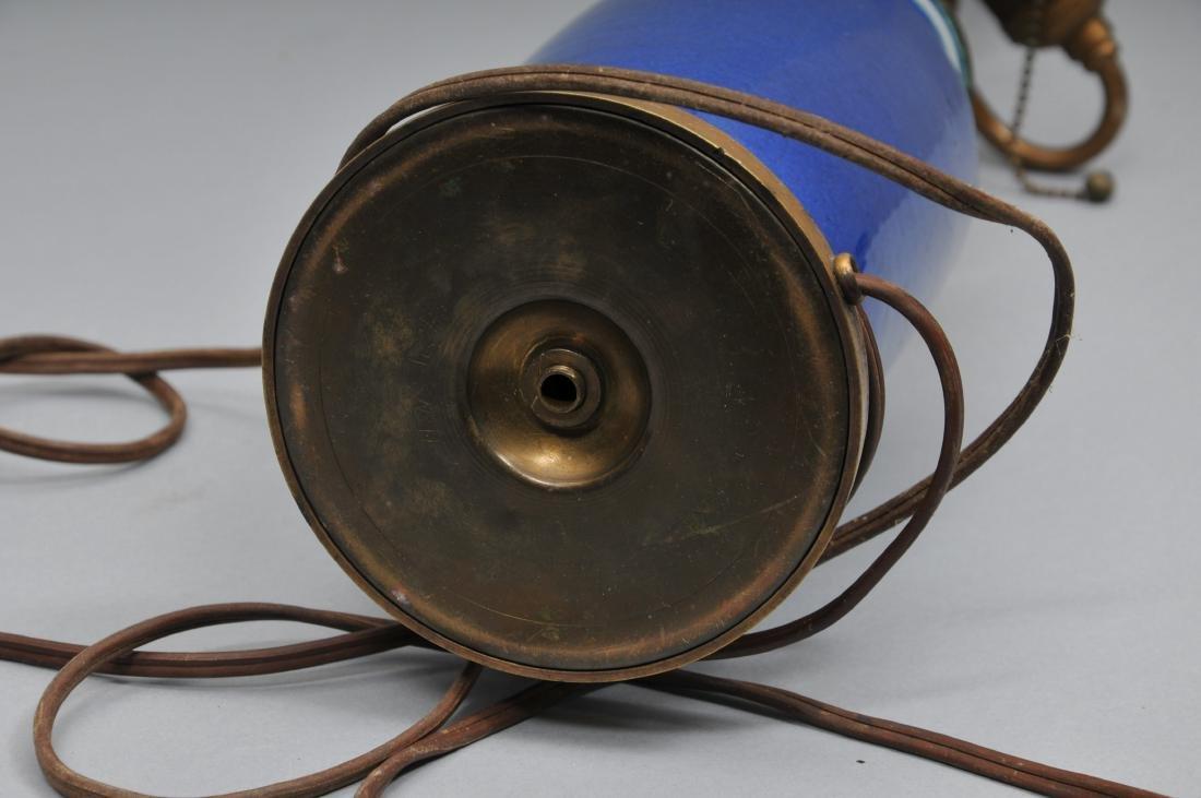 Porcelain vase. China. 19th century. Roleau form. Blue - 8