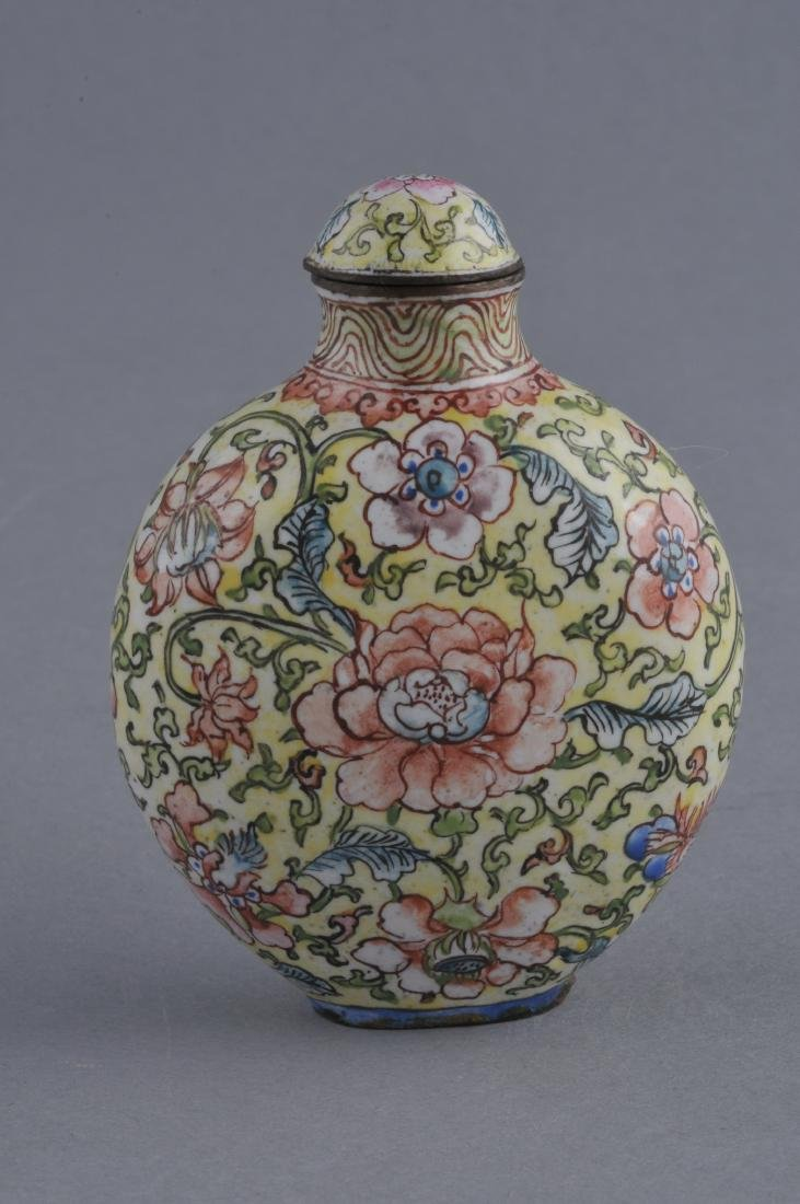 Snuff bottle. China. Ch'ien Lung mark (1735-1796) and - 3