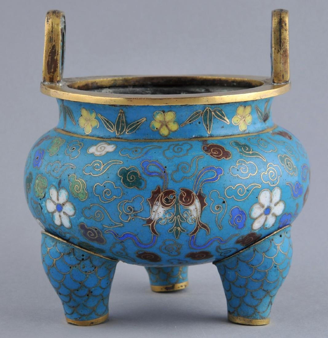 Cloisonne censer. China. 18th/early 19th century.