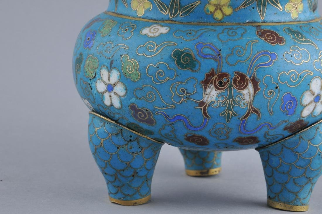 Cloisonne censer. China. 18th/early 19th century. - 2