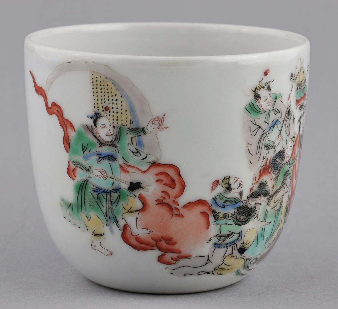Porcelain cup. China. 18th century. Famille Verte