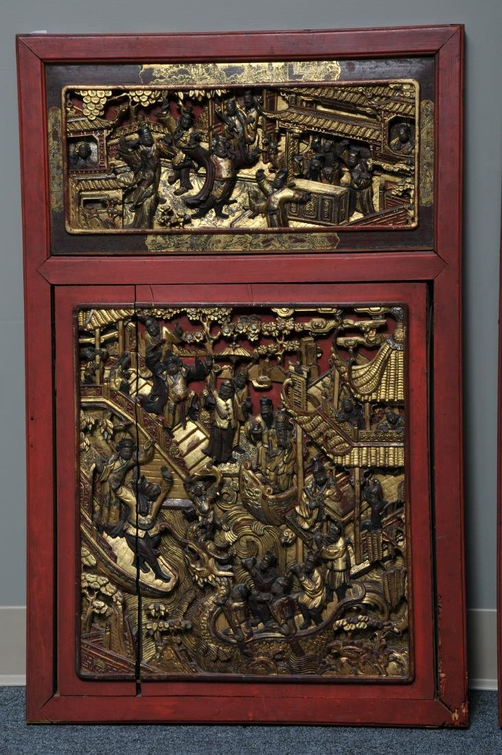 Pair of Architectural panels. China. 19th century. - 3