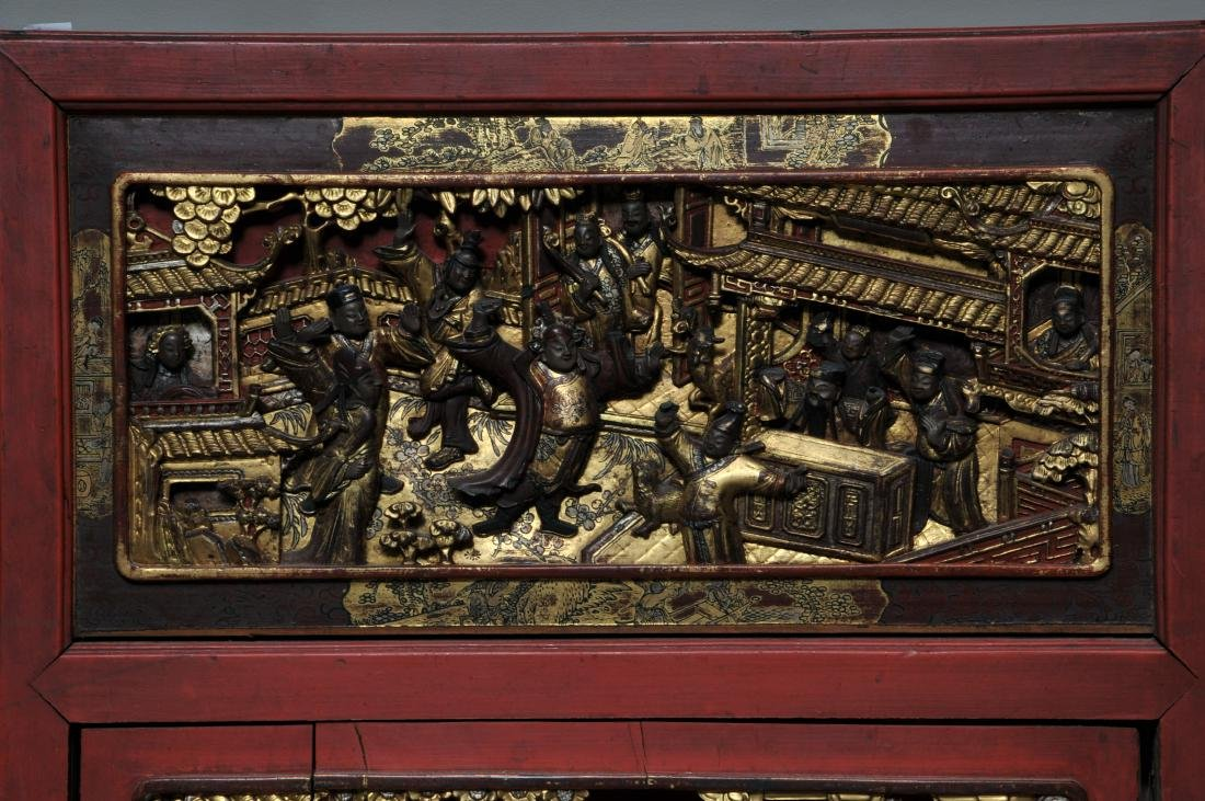 Pair of Architectural panels. China. 19th century. - 4