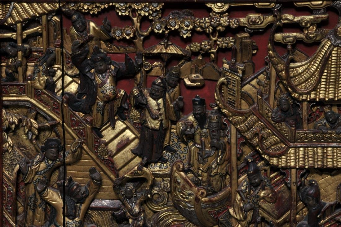 Pair of Architectural panels. China. 19th century. - 5