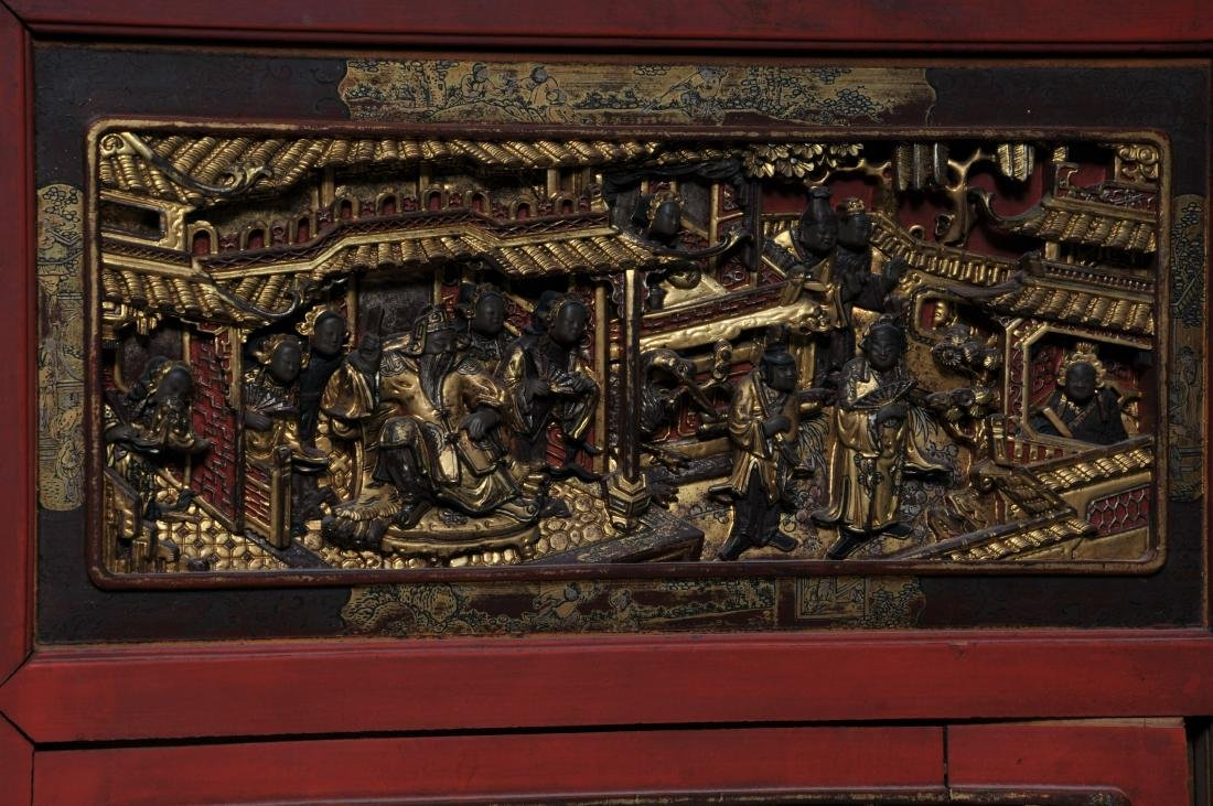 Pair of Architectural panels. China. 19th century. - 6