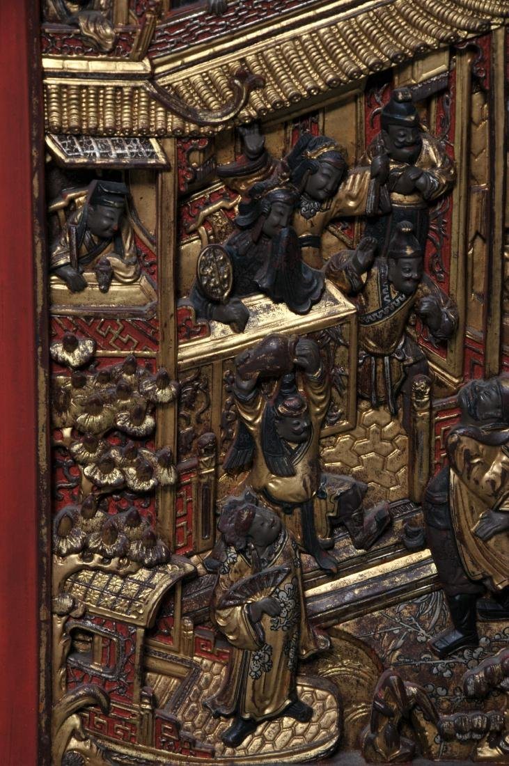 Pair of Architectural panels. China. 19th century. - 8