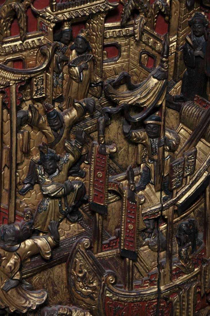 Pair of Architectural panels. China. 19th century. - 9