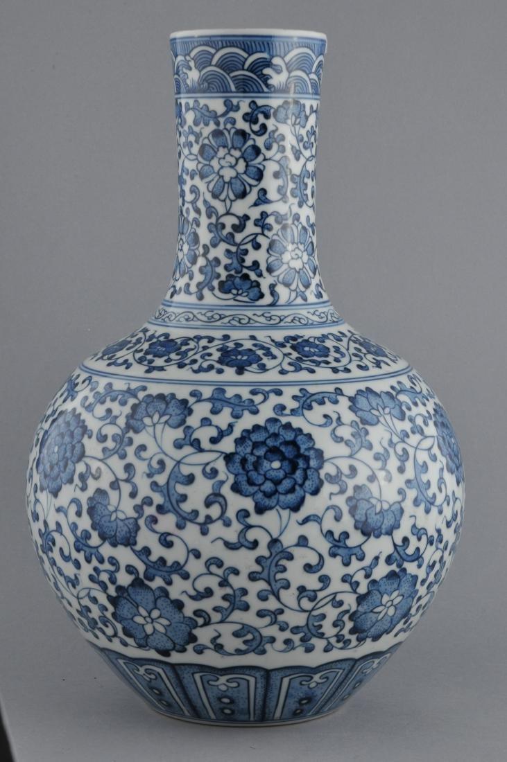 Porcelain vase. China. 20th century. Bottle form. - 2
