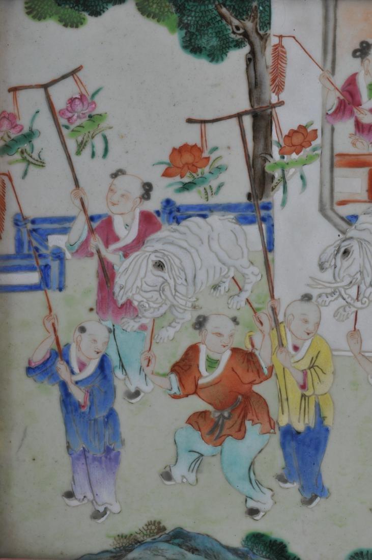 Porcelain plaque. China. 19th century. Famille Rose - 2