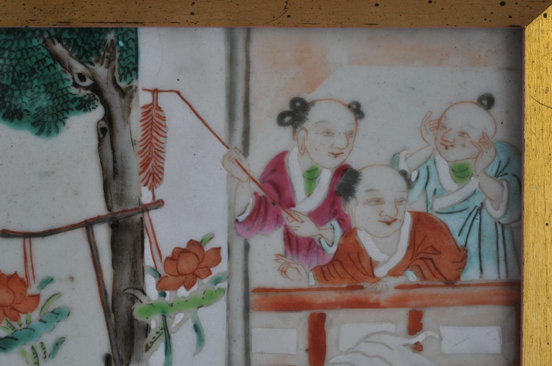 Porcelain plaque. China. 19th century. Famille Rose - 3