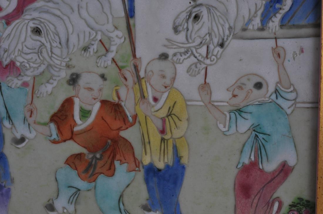 Porcelain plaque. China. 19th century. Famille Rose - 4