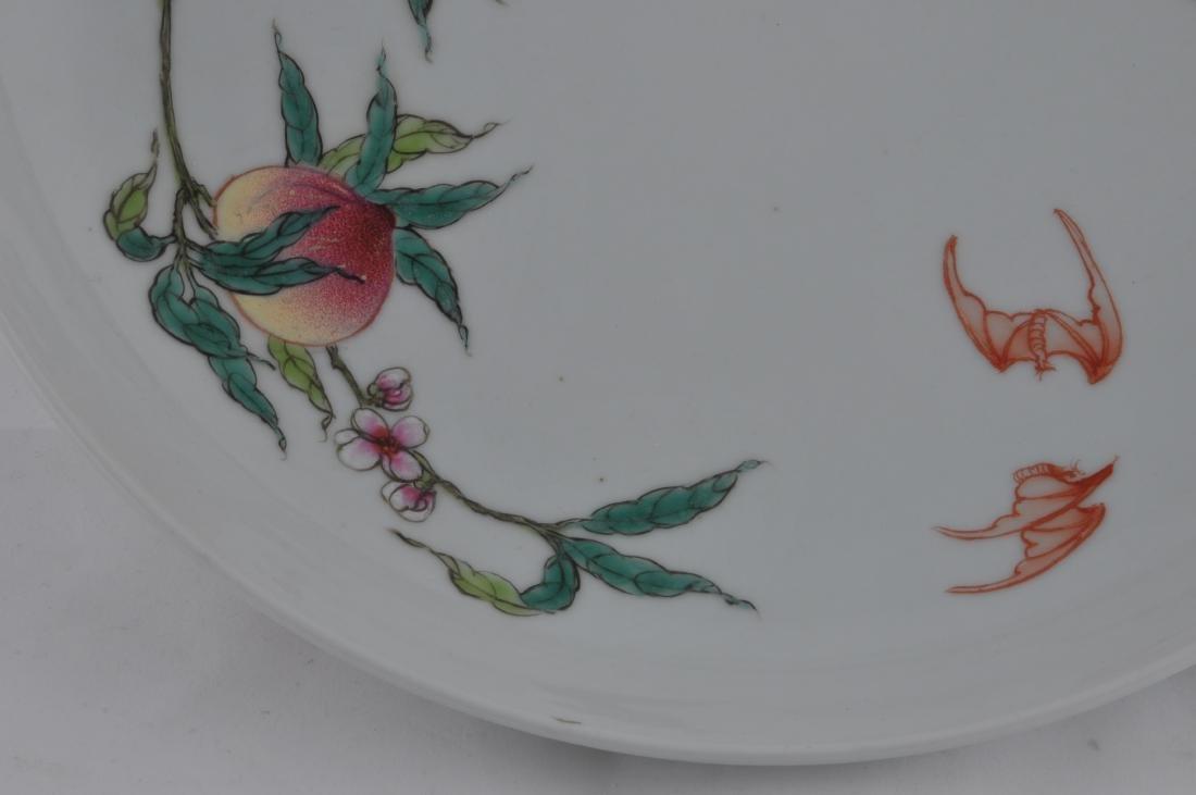"Porcelain plate. China. 20th century. ""Nine Peaches"" - 3"