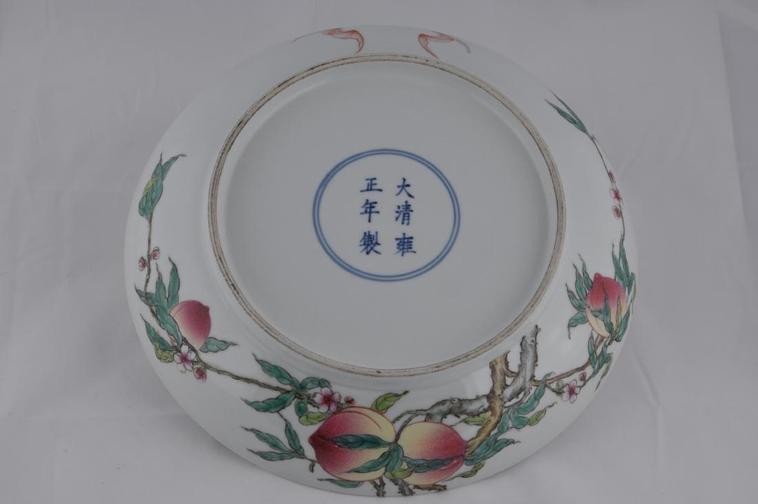 "Porcelain plate. China. 20th century. ""Nine Peaches"" - 4"