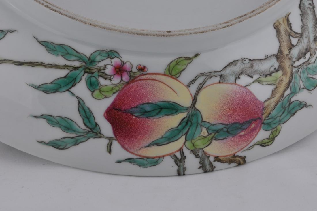"Porcelain plate. China. 20th century. ""Nine Peaches"" - 6"