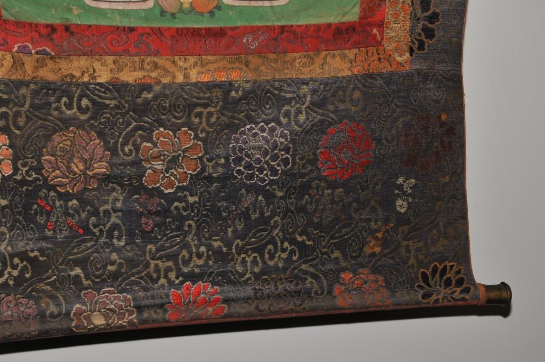 Buddhist Icon. Tibet. 19th C. Thangka. Distemper. - 5