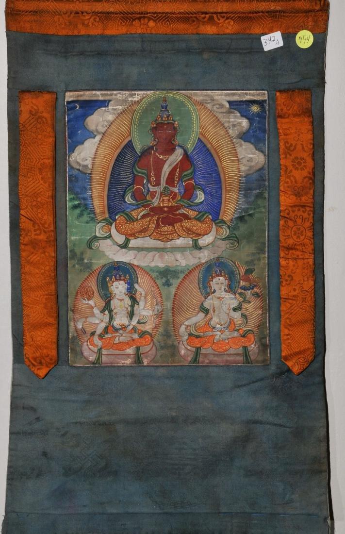 Buddhist Icon Thangka. Tibet. 19th century. Distemper.