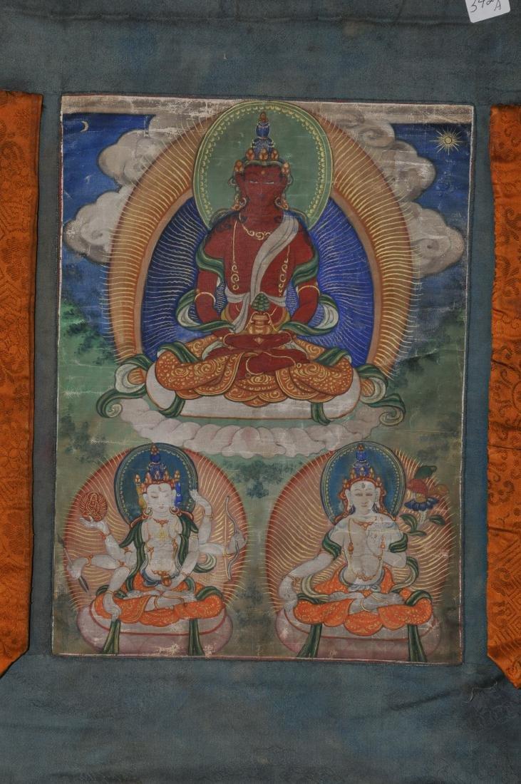 Buddhist Icon Thangka. Tibet. 19th century. Distemper. - 2