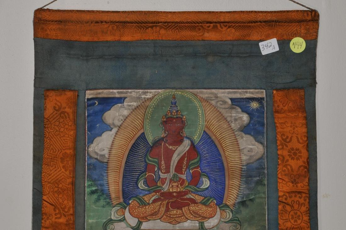 Buddhist Icon Thangka. Tibet. 19th century. Distemper. - 3