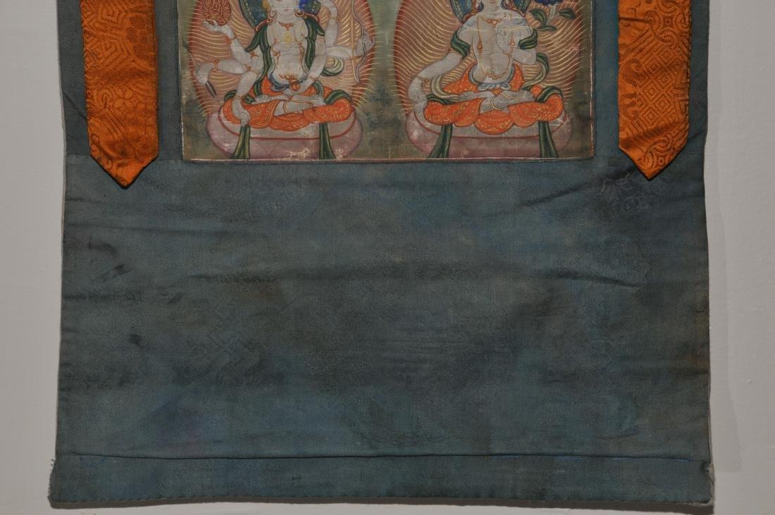 Buddhist Icon Thangka. Tibet. 19th century. Distemper. - 4