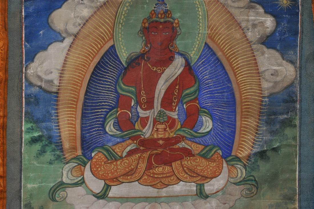 Buddhist Icon Thangka. Tibet. 19th century. Distemper. - 5