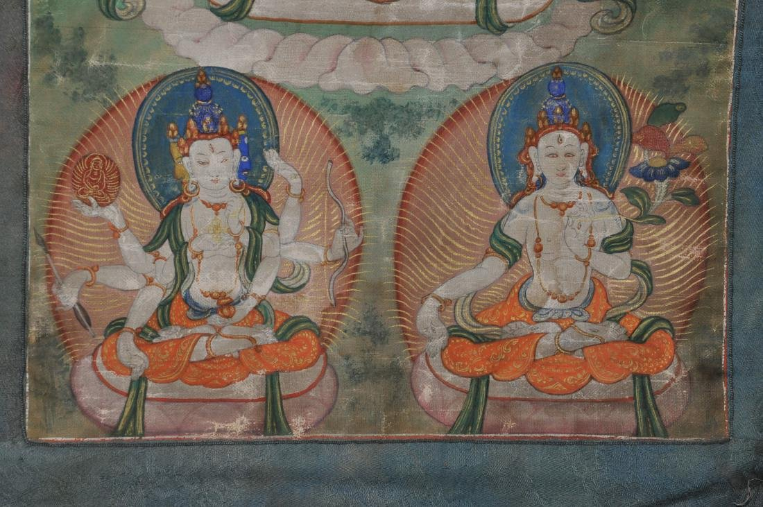 Buddhist Icon Thangka. Tibet. 19th century. Distemper. - 6