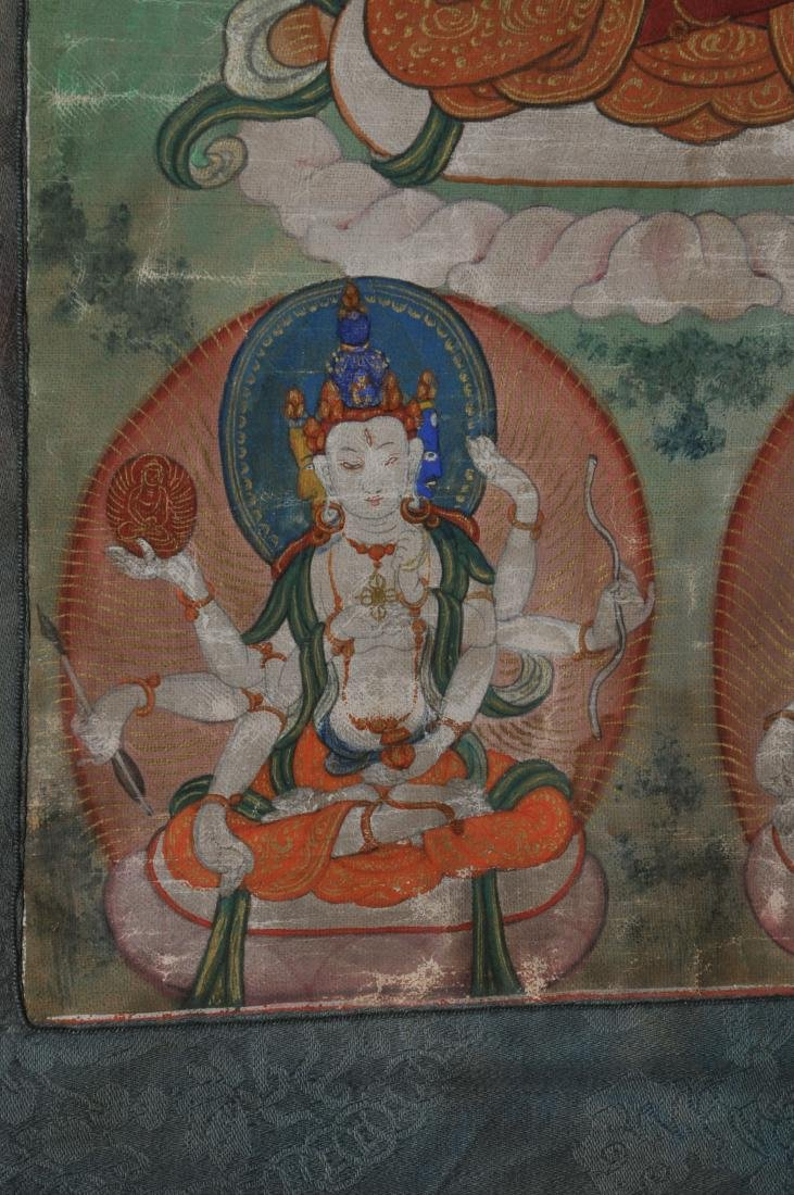 Buddhist Icon Thangka. Tibet. 19th century. Distemper. - 7