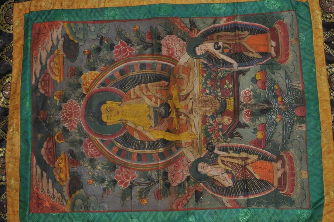Buddhist Icon Thangka. Tibet. 20th century. Distemper. - 2