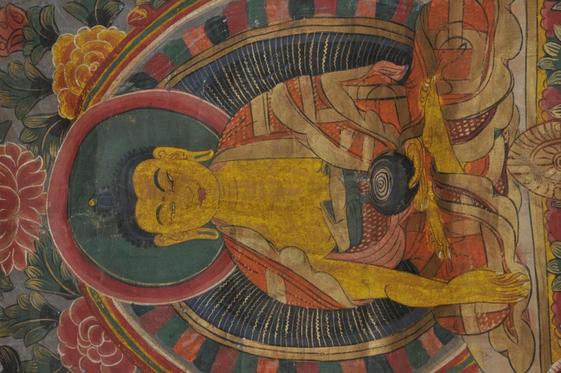 Buddhist Icon Thangka. Tibet. 20th century. Distemper. - 3