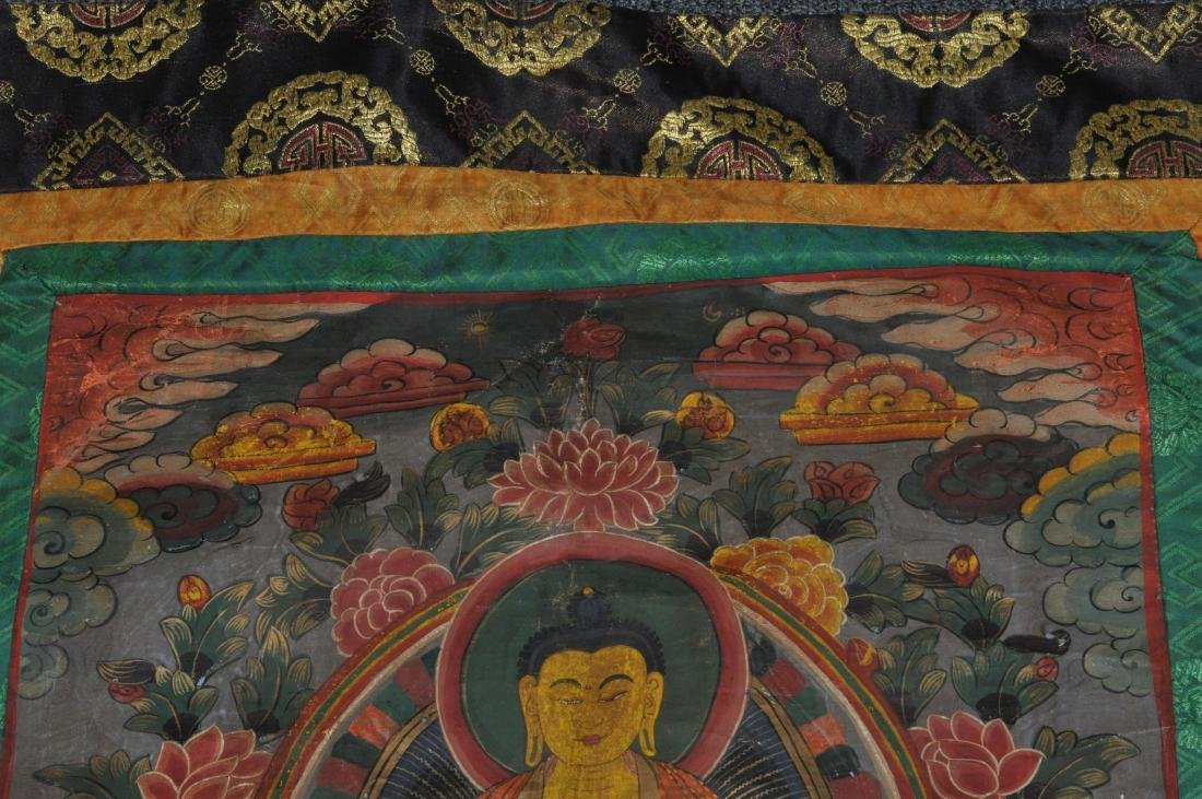Buddhist Icon Thangka. Tibet. 20th century. Distemper. - 5