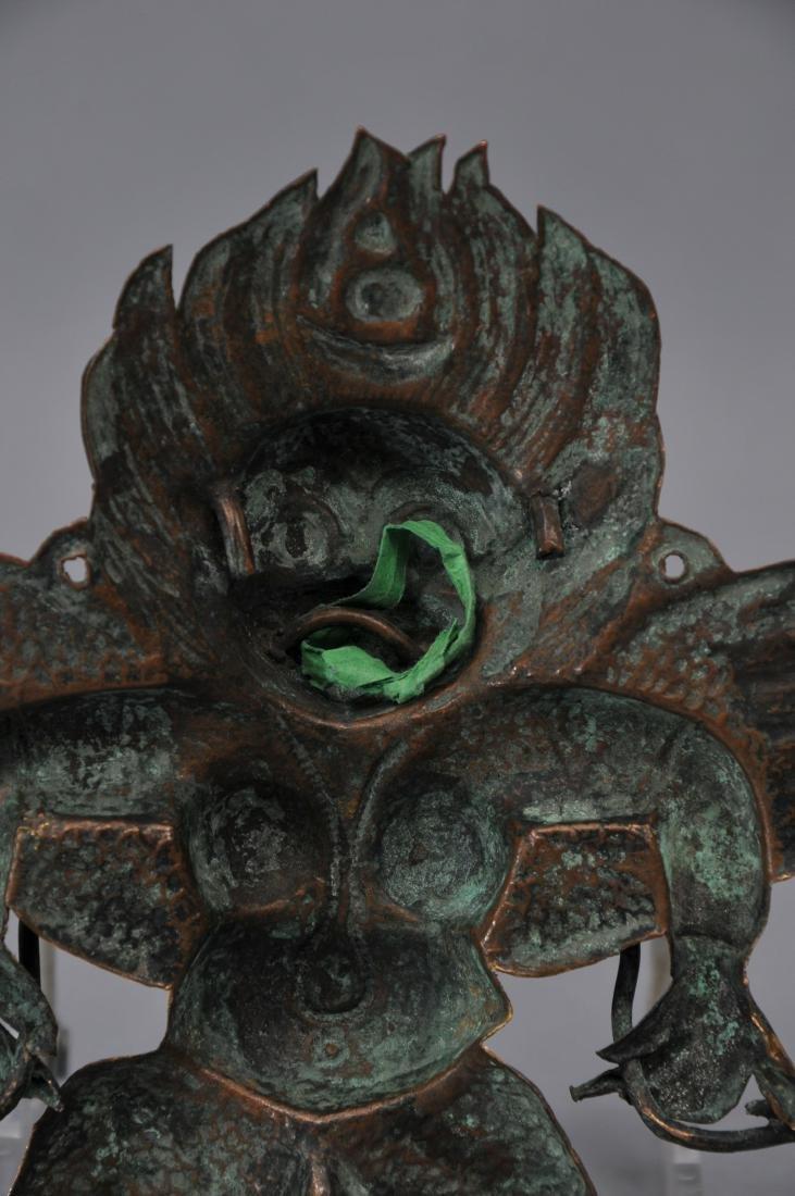 Gilt repousse plaque. Tibet. 19th century or earlier. - 5