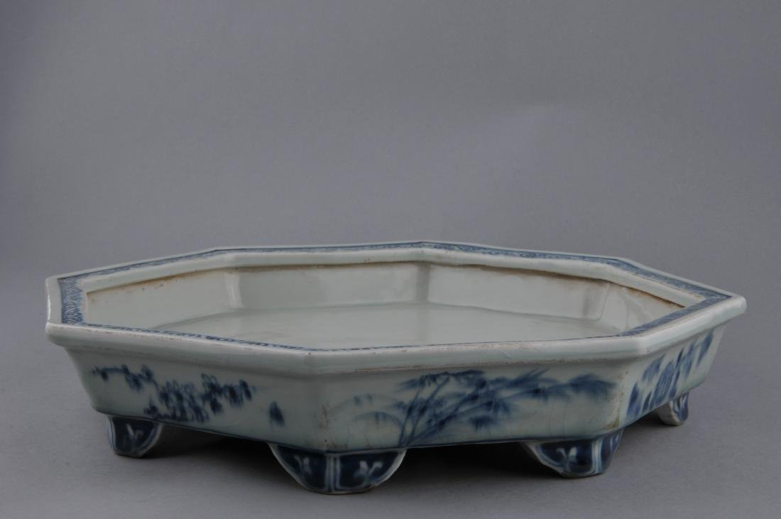 Porcelain planter. China. Early 20th century. Octagonal - 7