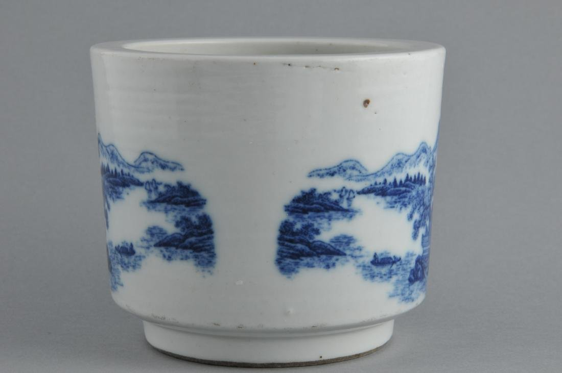 Porcelain censer. China. 19th century. Cylindrical - 2