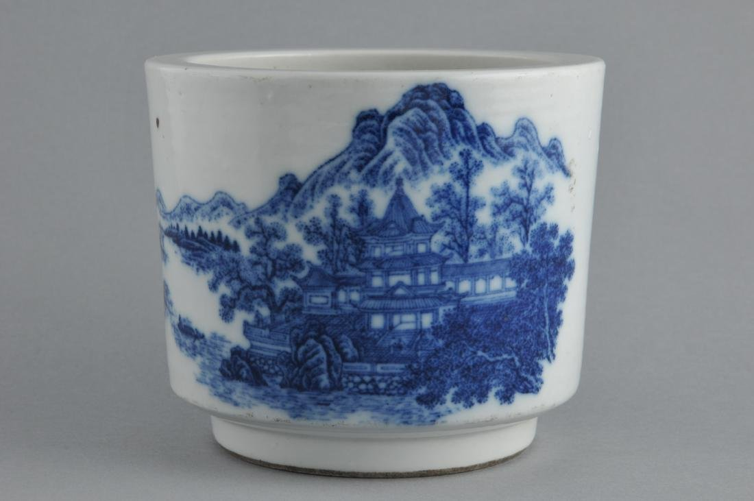 Porcelain censer. China. 19th century. Cylindrical - 3