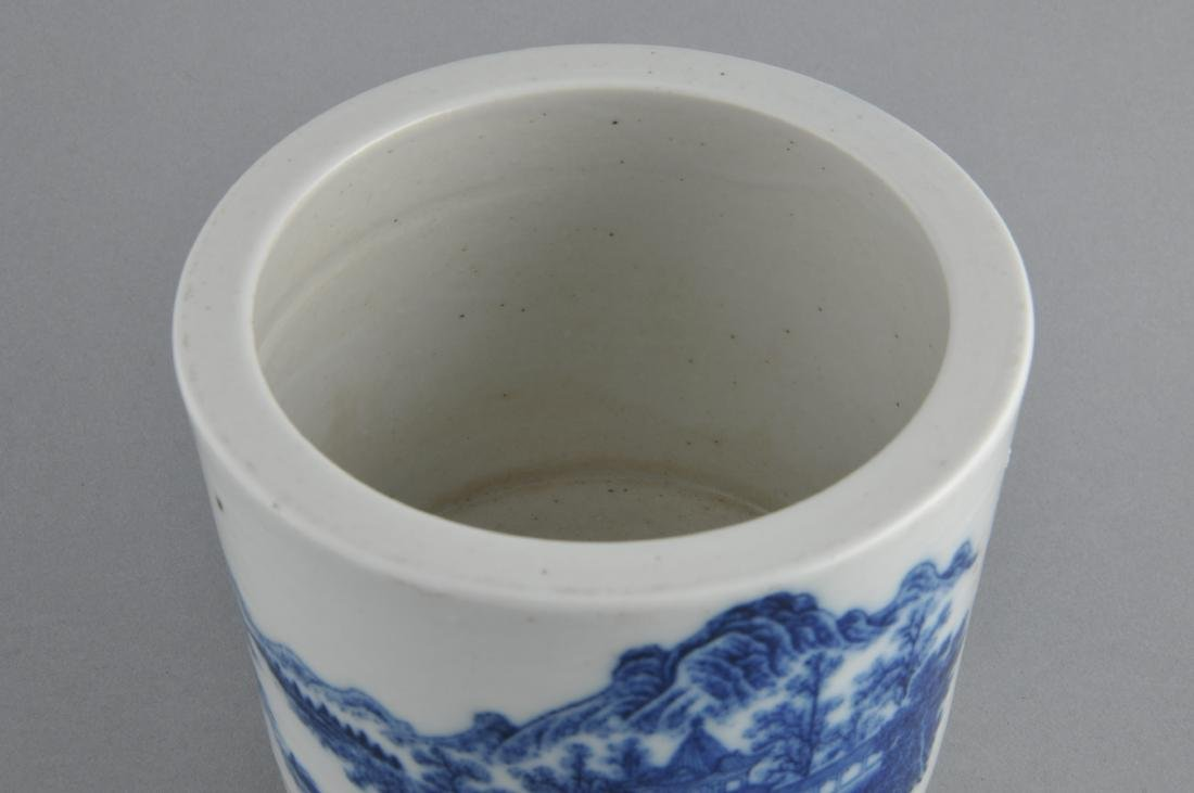 Porcelain censer. China. 19th century. Cylindrical - 5