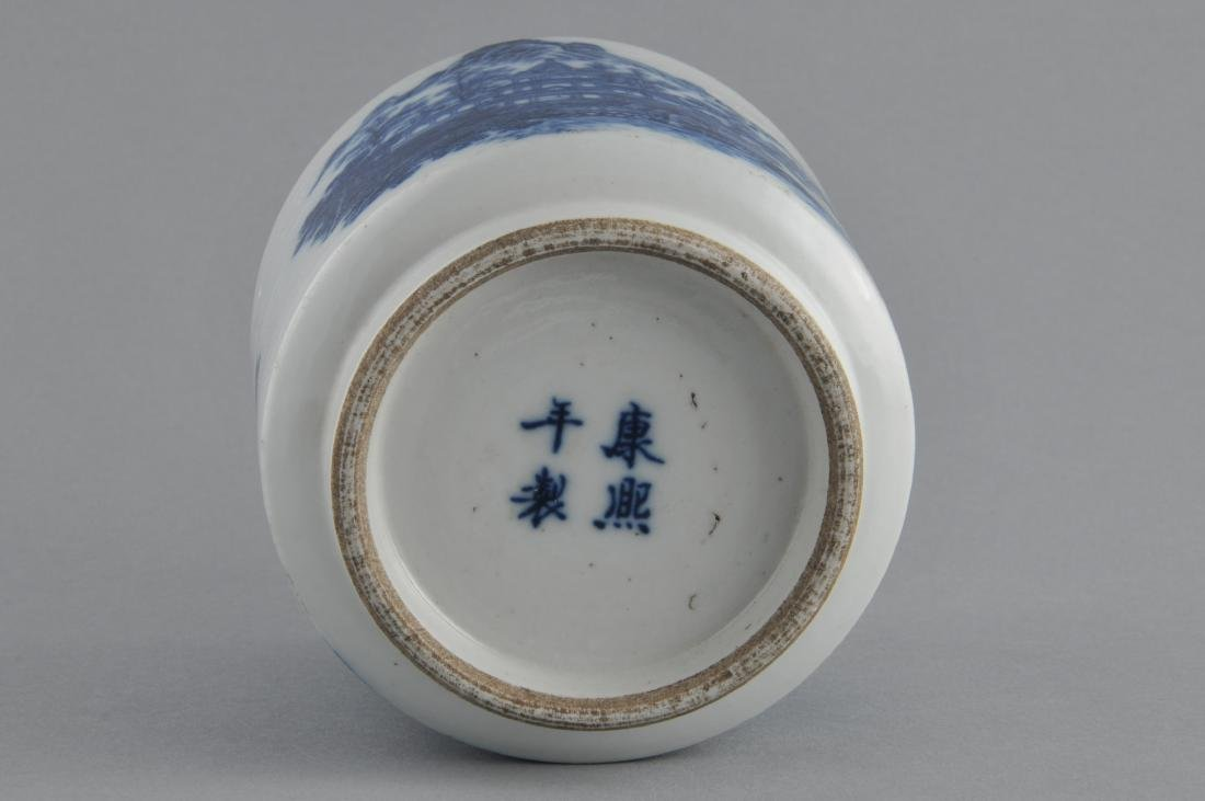 Porcelain censer. China. 19th century. Cylindrical - 6