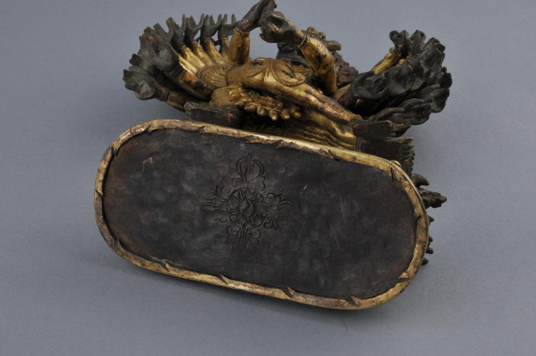 Gilt bronze image. Sino-Tibetan. 18th century. Figure - 10