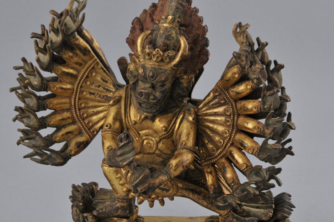Gilt bronze image. Sino-Tibetan. 18th century. Figure - 2
