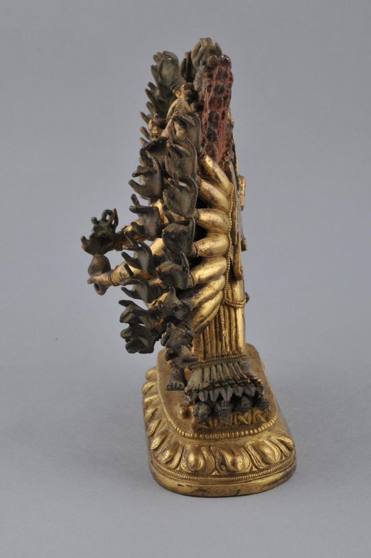 Gilt bronze image. Sino-Tibetan. 18th century. Figure - 5