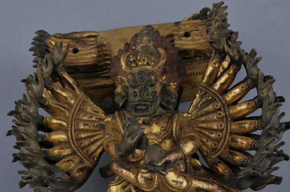 Gilt bronze image. Sino-Tibetan. 18th century. Figure - 8