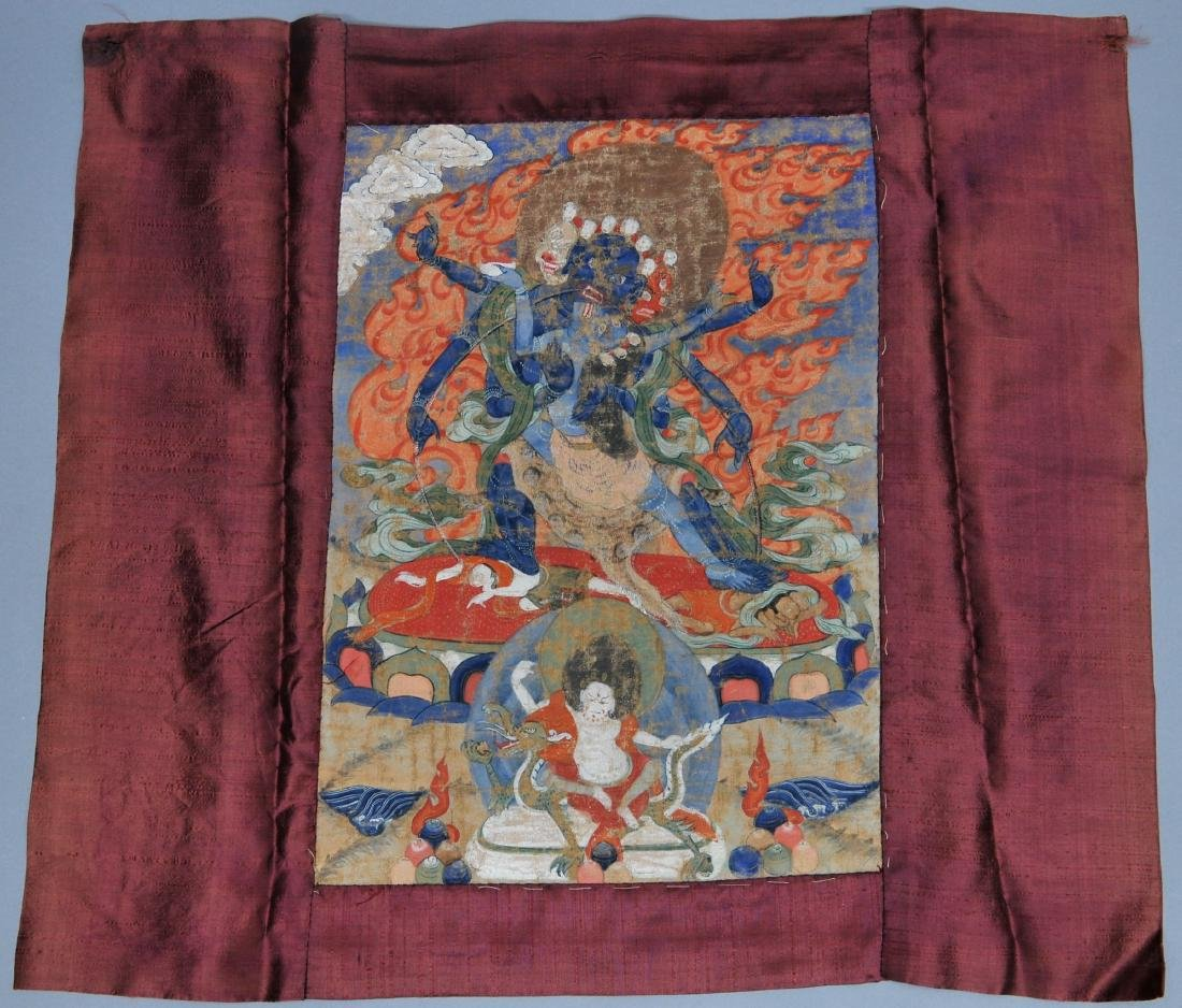 Buddhist Icon Thangka. Tibet. 18th/19th century.