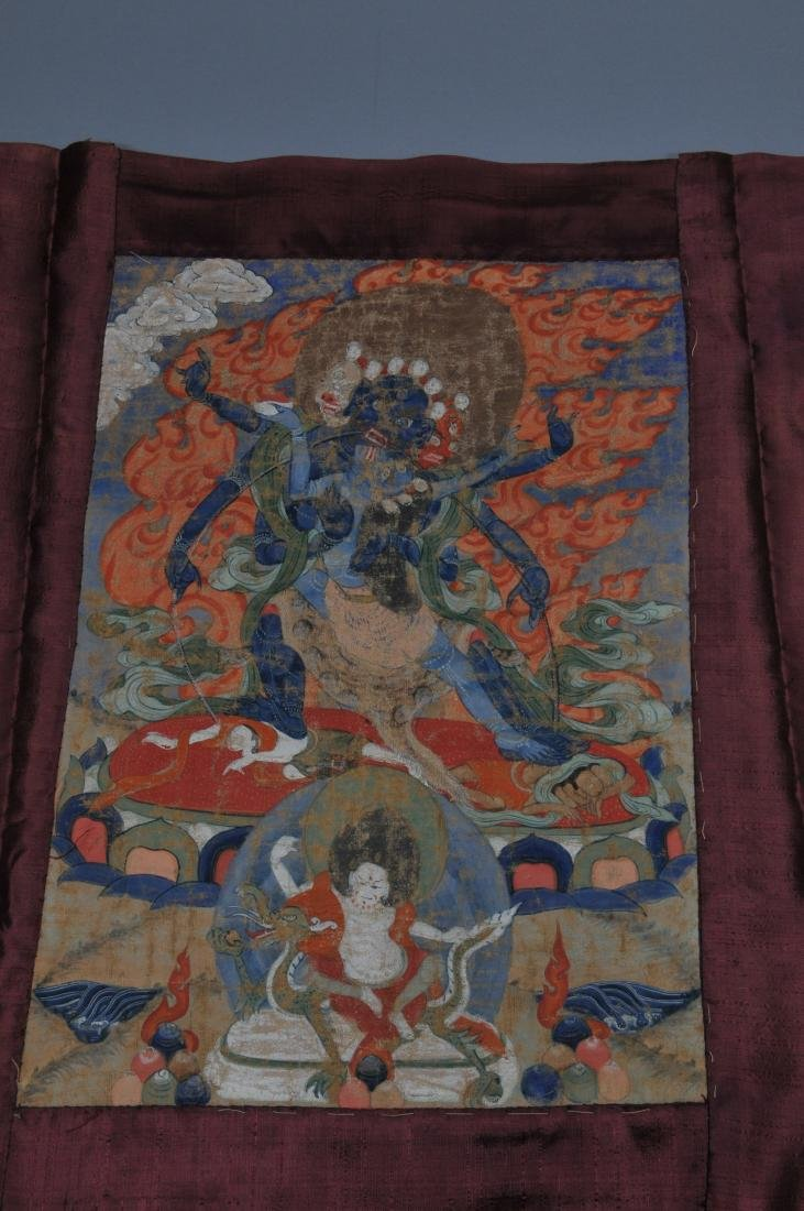 Buddhist Icon Thangka. Tibet. 18th/19th century. - 4