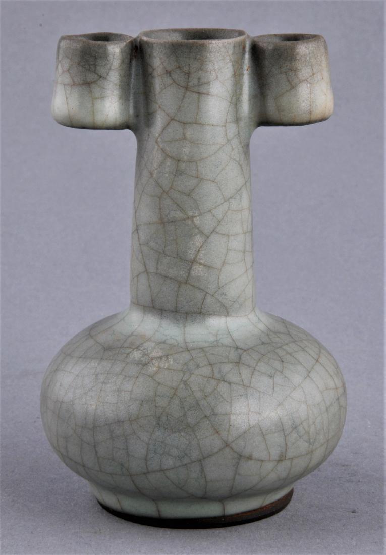 Porcelain vase. China. 20th century. Arrow vase form.