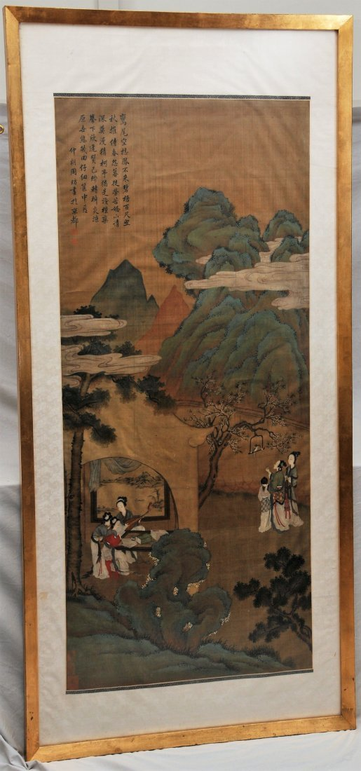 Painting. China. 19th C, Signed Chou Fan, 5 seals.