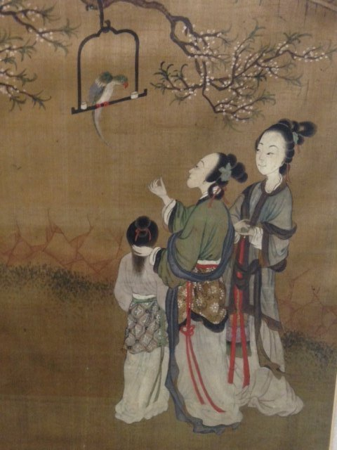 Painting. China. 19th C, Signed Chou Fan, 5 seals. - 6