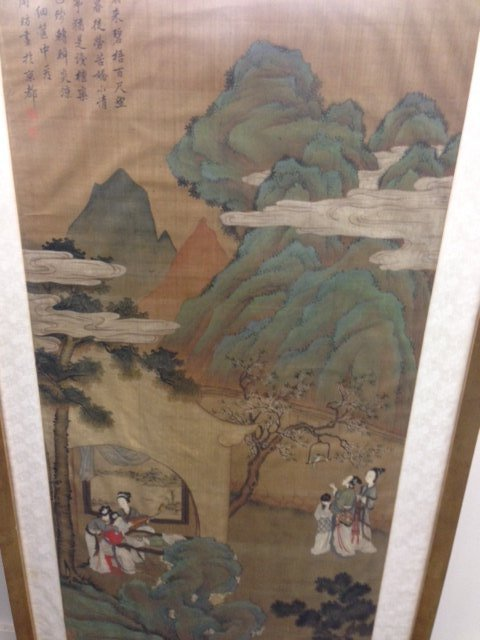 Painting. China. 19th C, Signed Chou Fan, 5 seals. - 9