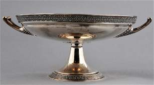 Gorham Victorian Sterling Silver compote with leaf
