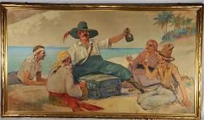 Frank Vining Smith. Large Illustration painting