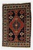 Antique Caucasian Shirvan carpet Blue field with red