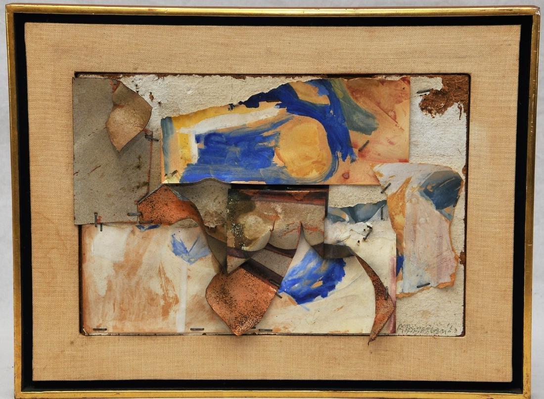 John Angus Chamberlain, 20th C. Mixed Media Collage.